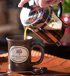 Kona Coffee poured into a mug