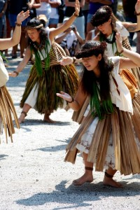 Hula dancers at a cultural festival in Hawaii