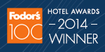 Fodor's 100 2014 Hotel Awards Winner