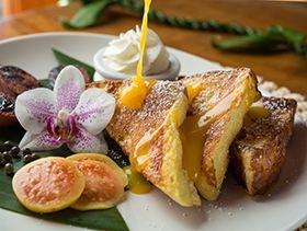 French toast for breakfast at the Holualoa Inn