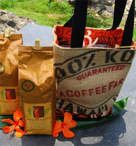 Kona Coffee gift baskets