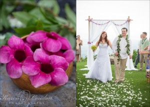 Holualoa wedding ceremony