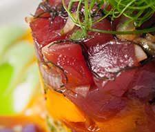 Fresh ahi tuna at a top Big Island restaurant