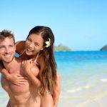 Couple on their Big Island, Hawaii honeymoon