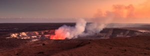 Active Halemaumau Crater At Sunset - beautiful attractions perfect for a staycation in Hawaii