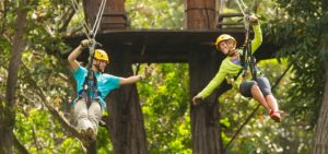 Ziplining in Hawaii is a must for a tropical vacation