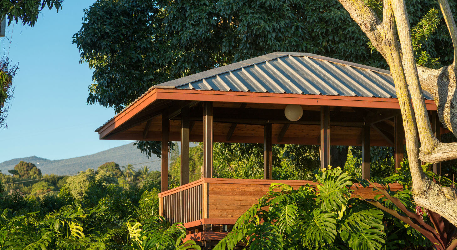 Gazebo in the Holualoa gardens