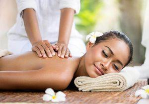 Woman enjoying relaxing massage