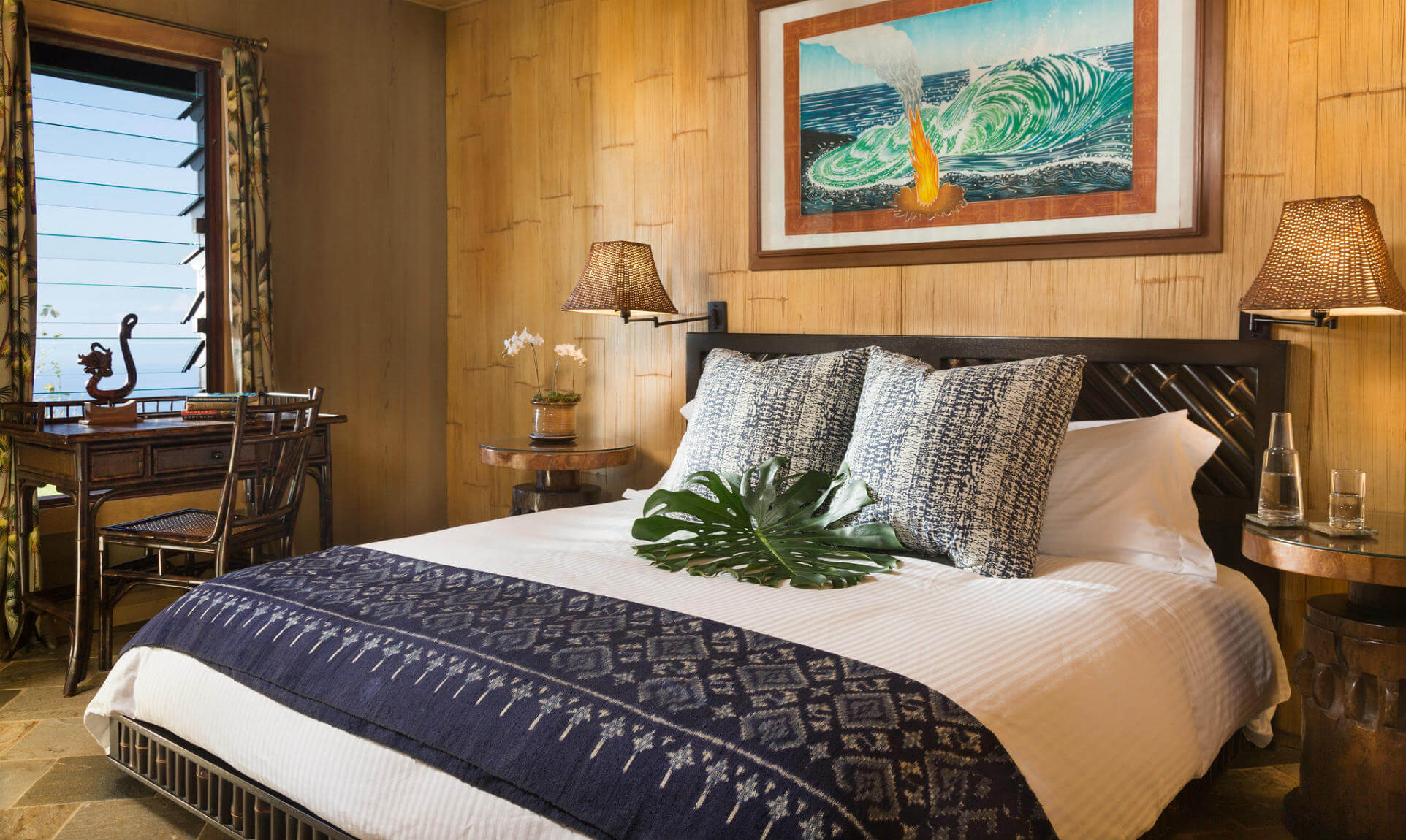 Bed in Plumeria Suite