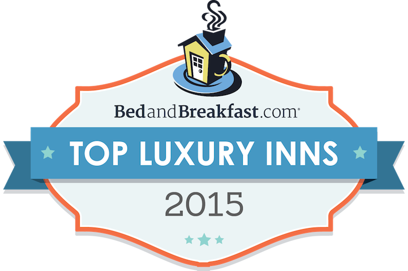 BedandBreakfast.com Top Luxury Inns badge 2015