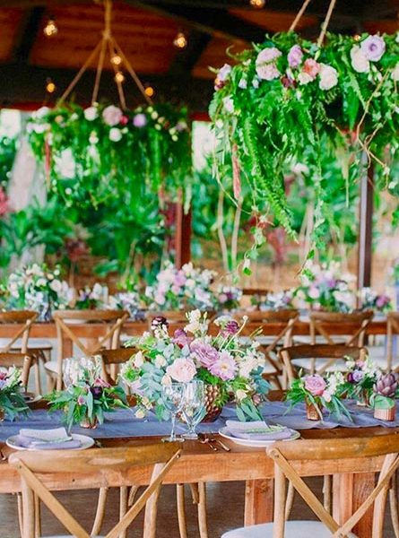 Wedding Reception Tables with Flowers