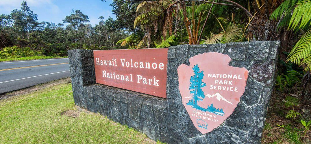 Hawaii Volcanoes National Park sign