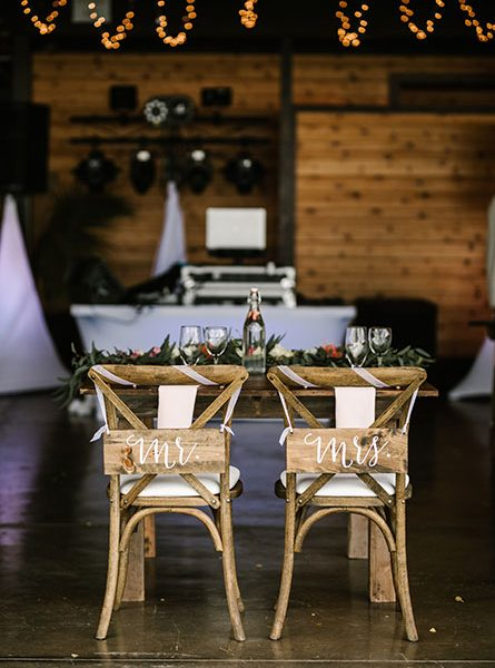 Head table for Mr. and Mrs.