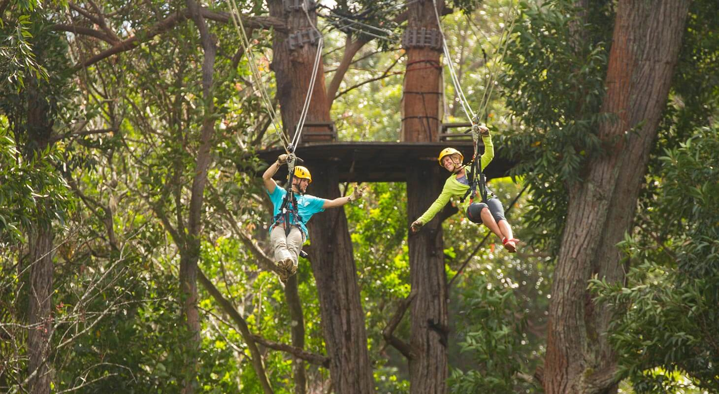 Couple on Kohala Zipline