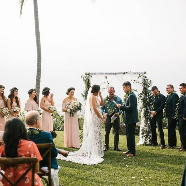 Hawaiian wedding ceremony at the Holualoa Inn