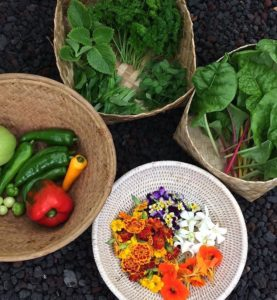 Local Produce for a farm to table meal in Hawaii