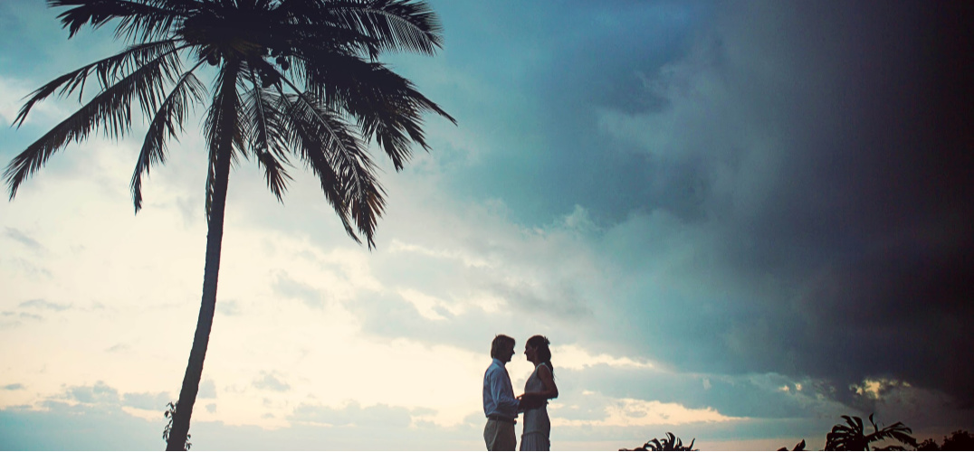 Husband and Wife enjoying the place they eloped (Hawaii)