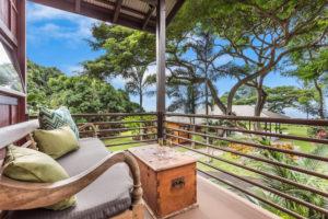 Patio view at Holualoa Inn