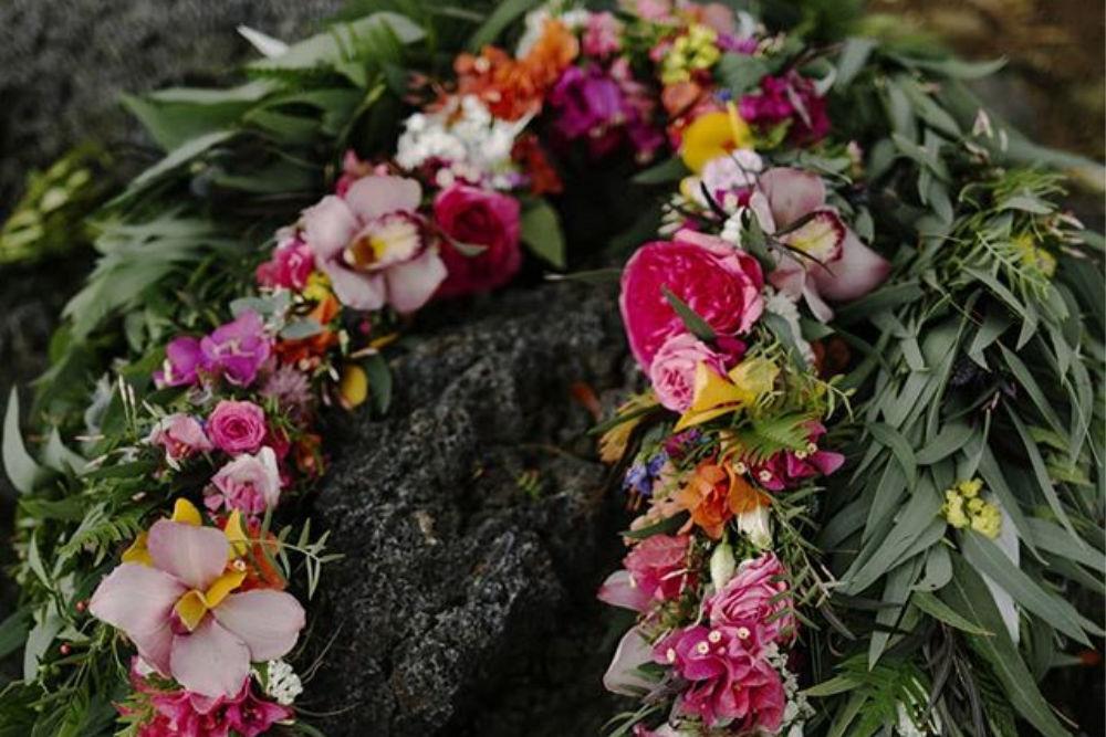 Beautiful Flower Lei in Hawaii