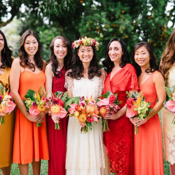 Bridal Party in Autumn Colors