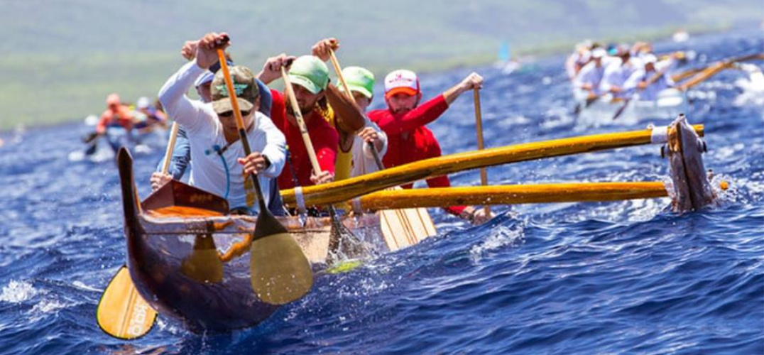 Group of men at Hawaii rowing competition