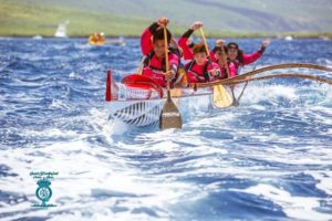 Hawaii canoe race - teens race competition