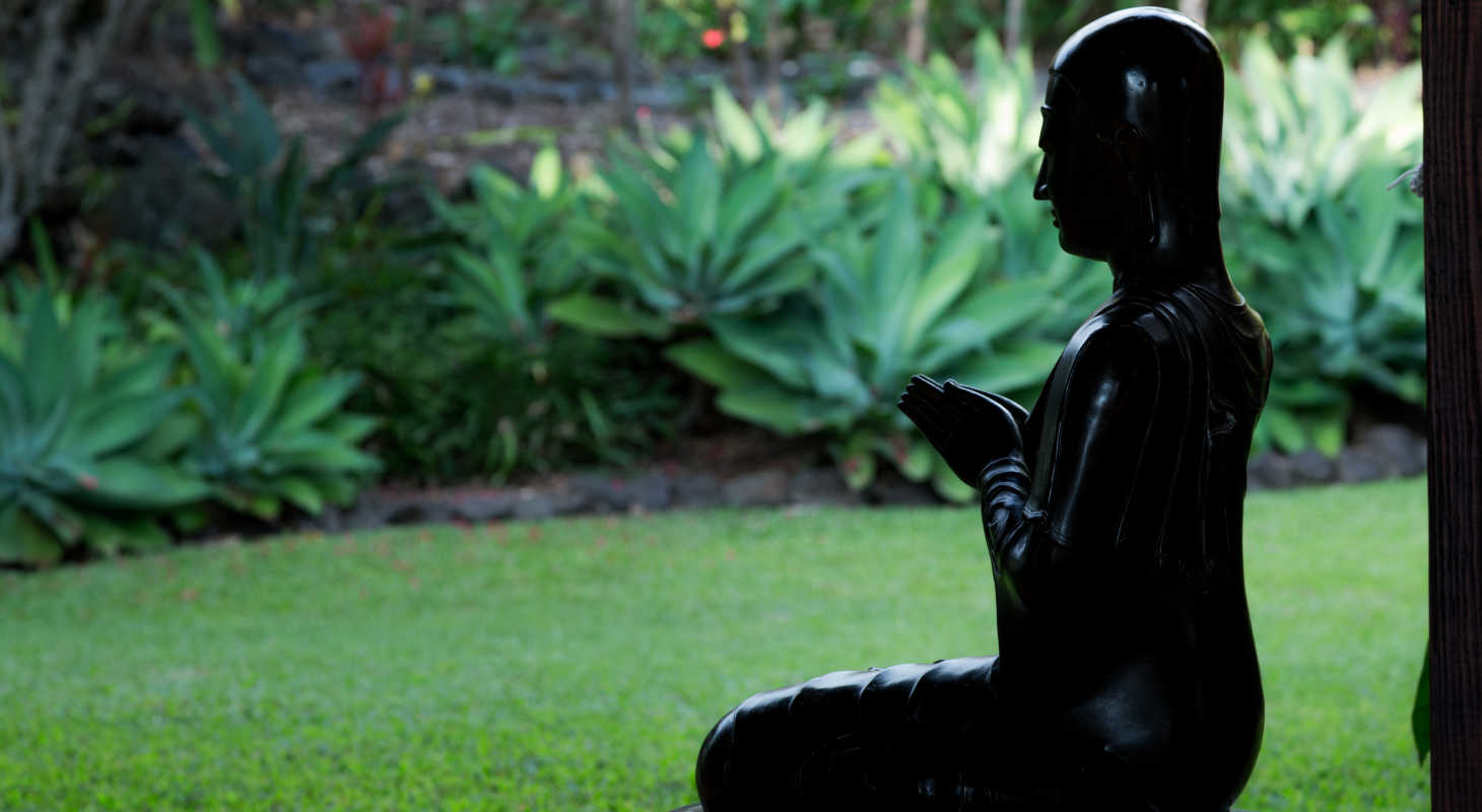 Zen Garden at Holualoa Inn, perfect setting for a hawaii yoga retreat