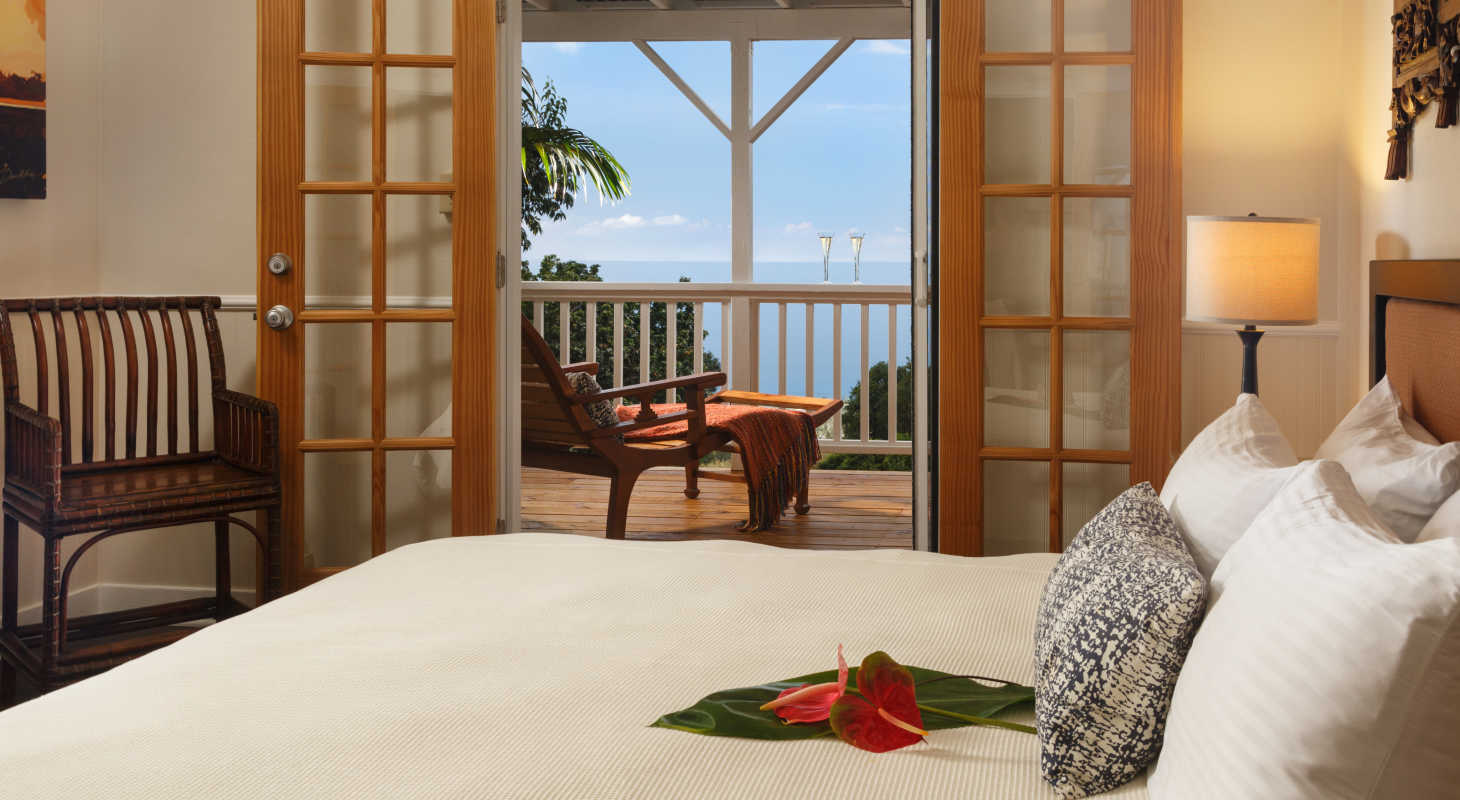 Holualoa Inn Room with a view of the ocean