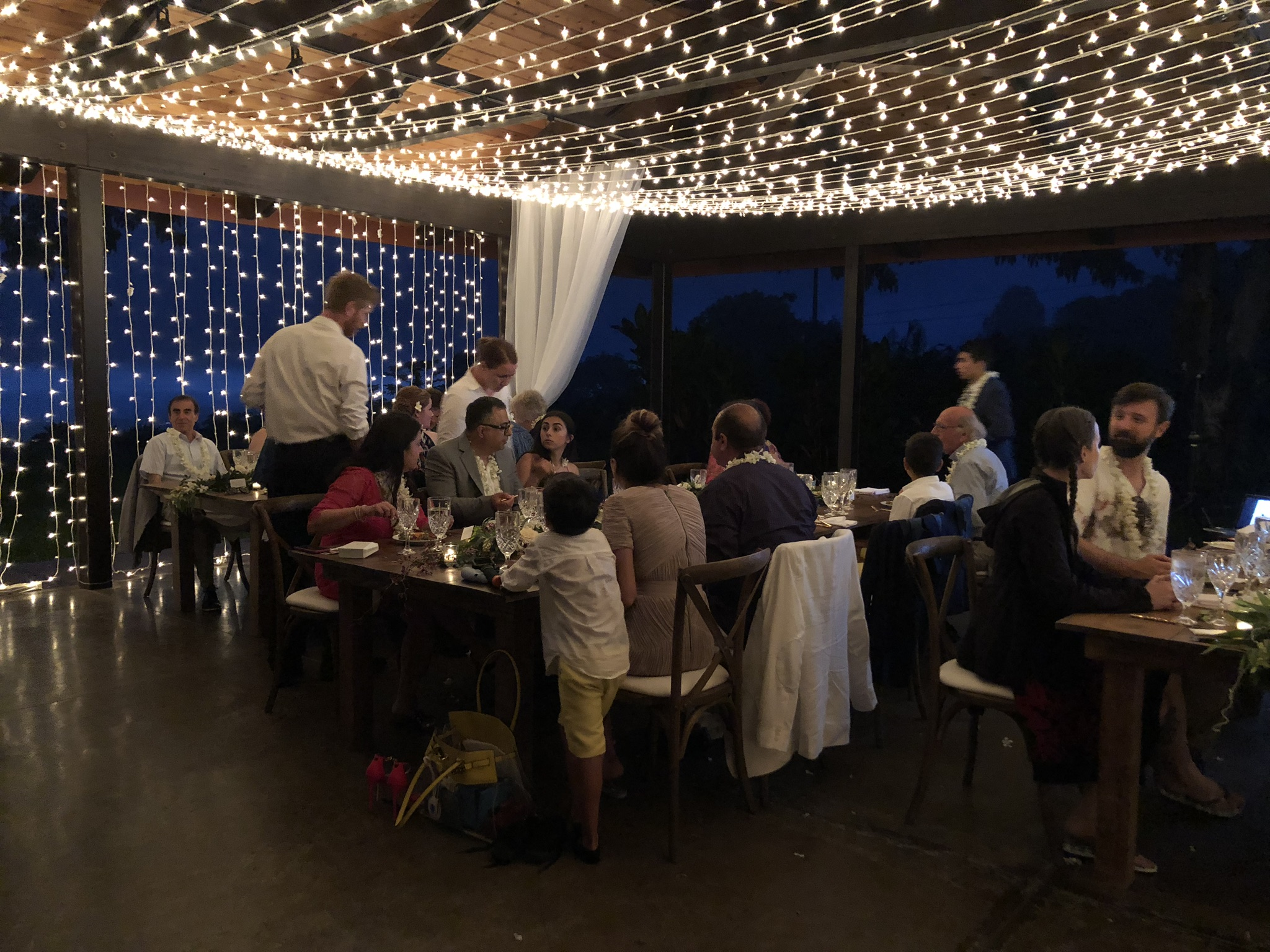 Real reception at our wedding venue on the Big Island