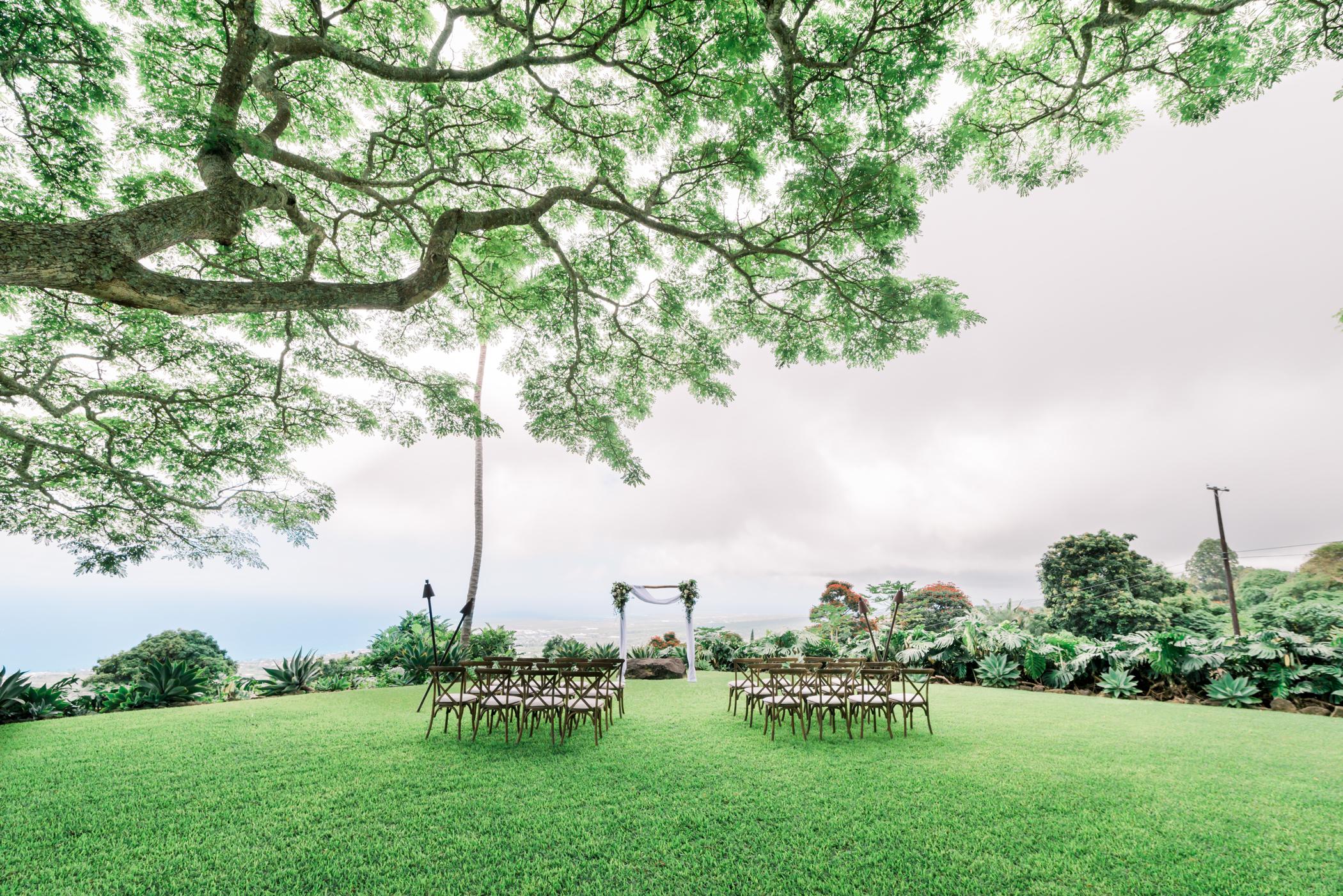 Stunning wedding ceremony at our Big Island wedding venue