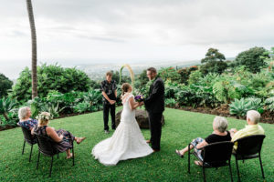 Hawaiian elopement ceremony on the Big Island